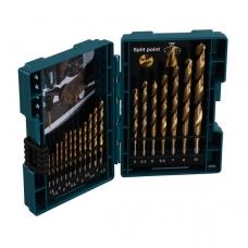 Makita Grąžtų komplektas 19 vnt. (1.5-10mm) metalui HSS-TIN  D-67527