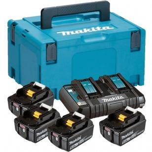 Makita BL1850B x 4 + DC18RD akumuliatorių rinkinys skirtas 18 V įrankiams 197626-8