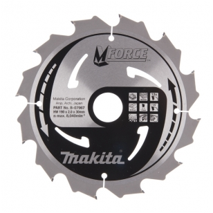 Makita Pjovimo diskas 190x30/20/16x2,0mm 12T B-07967