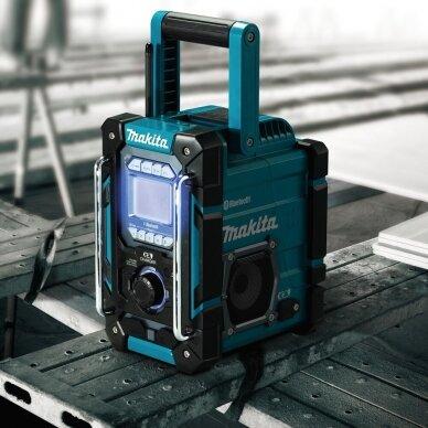 Makita DMR300 Radijas su Bluetooth ir akumuliatorių krovimo funkcija (Be akumuliatorių ir kroviklio) 2