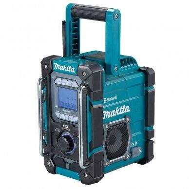 Makita DMR300 Radijas su Bluetooth ir akumuliatorių krovimo funkcija (Be akumuliatorių ir kroviklio)