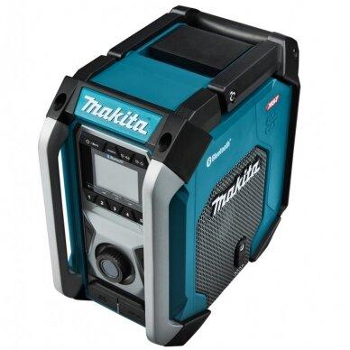 Makita MR002G Radijas su Bluetooth funkcija (XGT, LXT, CXT, 220V, Be akumuliatorių ir kroviklio)