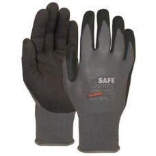 Nailoninės pirštinės, padengtos nitrilo putomis M-Safe Nitri-Tech Foam 14-690 , dydis 12/3XL