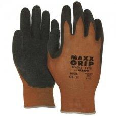 Nailoninės pirštinės su latekso delnu M-Safe Maxx-Grip Lite 50-245, dydis 8/M