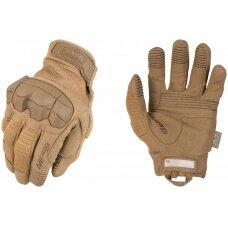 Pirštinės Mechanix M-Pact® 3 Coyote 12/XXL dydis. Velcro, TrekDry®, dirbtinė oda, delno, krumplių, Armortex®, pirštų apsauga, D30® apsauga nuo vibracijos