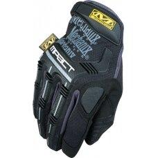 Pirštinės Mechanix M-Pact® 58 juodos 8/S dydis. Velcro, TrekDry®, dirbtinė oda, delno, krumplių, Armortex®, pirštų apsauga, D30® apsauga nuo vibracijos