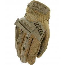 Pirštinės Mechanix M-Pact® Coyote 12/XXL dydis. Velcro, TrekDry®, dirbtinė oda, delno, krumplių, Armortex®, pirštų apsauga, D30® apsauga nuo vibracijosvibracijos