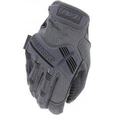 Pirštinės Mechanix M-Pact® Wolf Grey pilkos 9/M dydis. Velcro, TrekDry®, dirbtinė oda, krumplių apsauga, antivibracinė deldo sritis
