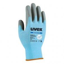 Pirštinės Uvex Phynomic C3, 3 lygio neperpjaunamos, Poliamidas/elastanas/HPPE/stiklas. Vandens polimerų putų padengimas. 8 dydis