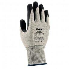 Pirštinės Uvex Unidur 6659 Foam, 5 lygio atsparumas pjūviams,HPPE, stiklas, poliamidas. Dydis 7