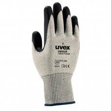 Pirštinės Uvex Unidur 6659 Foam, 5 lygio atsparumas pjūviams,HPPE, stiklas, poliamidas. Dydis 9
