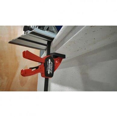 PIHER Greitos fiksacijos spaustuvas liniuotėms ir darbastaliams Quick T-Track 7x30cm, max 60kg 3
