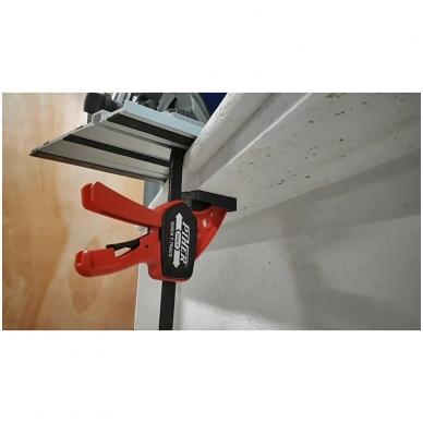 PIHER Greitos fiksacijos spaustuvas liniuotėms ir darbastaliams Quick T-Track 7x15cm, max 60kg 3