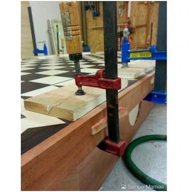 PIHER Spaustuvai MM 15cm, žiočių gylis 7cm, max 4000N, medine rankena 4