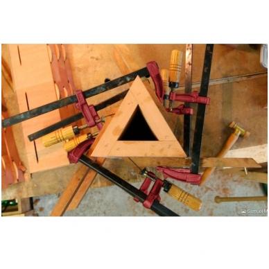 PIHER Spaustuvai MM 15cm, žiočių gylis 7cm, max 4000N, medine rankena 5