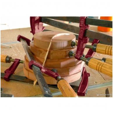 PIHER Spaustuvai MM 15cm, žiočių gylis 7cm, max 4000N, medine rankena 6