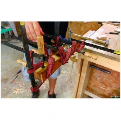 PIHER Spaustuvai MM 15cm, žiočių gylis 7cm, max 4000N, medine rankena 3