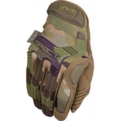 Pirštinės Mechanix M-Pact® 78 Multicam® 11/XL dydis. Velcro, TrekDry®, dirbtinė oda, delno, krumplių, Armortex®, pirštų apsauga, D30® apsauga nuo vibracijos