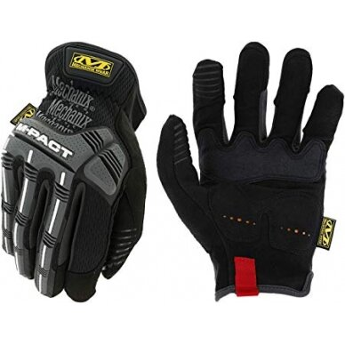 Pirštinės Mechanix M-Pact® Open Cuff 9/M dydis. Rauktas rankogalis, TrekDry®, sintetinė oda, delno, krumplių, Armortex®, pirštų apsauga, C30® apsauga nuo vibracijos