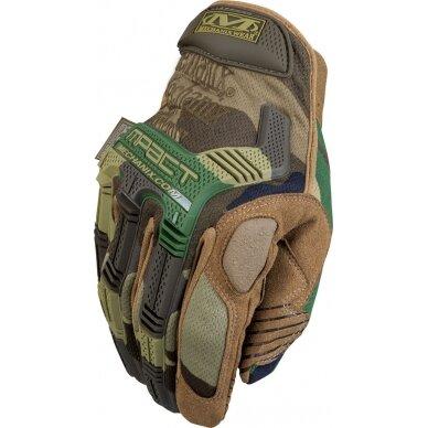 Pirštinės Mechanix M-Pact® Woodland Camo 11/XL dydis.