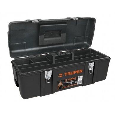 Plastikinė įrankių dėžė 584x267x254mm. Truper 11506