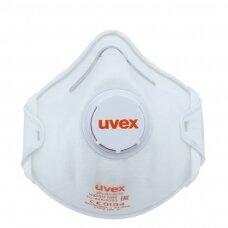 Respiratorius Uvex Silv-Air Classic 2210 FFP2, puodelio tipo su vožtuvu, baltas