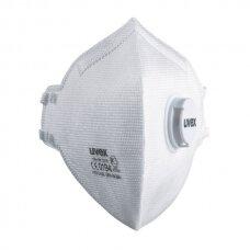 Respiratorius Uvex Silv-Air Classic 3310 FFP3, sulankstomas su vožtuvu, baltas, 1 vnt. 15 vnt dėžėje