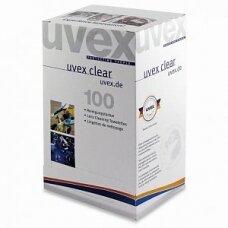 Servetėlės akinių linzių valymui Uvex, 100vnt, individualiai supakuotos