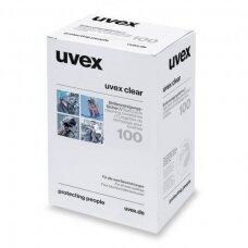 Servetėlės akinių linzių valymui Uvex, 3vnt, individualiai supakuotos