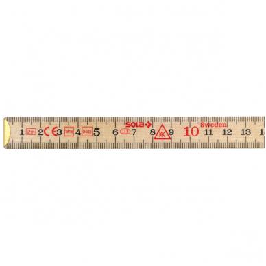 Sola H 2/10 Sulankstoma medinė liniuotė  2 m 3