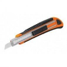 Sustiprintas gumuotas peilis laužomoms 9mm geležtėms 16971