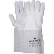"""Suvirintojo pirštinės """"Welder"""", minkšta avies oda, 15 cm verstos odos rankogalis, dydis 10/XL"""