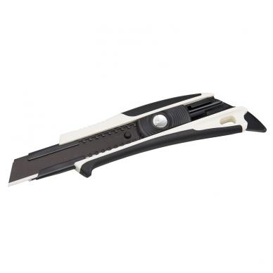 Tajima Dora Sustiprintas gumuotas peilis su 18mm geležte, auto-lock fiksatoriumi 2