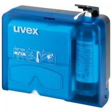 Uvex akinių valymo stotelė (valiklis su dozatoriumi ir servetėlės)