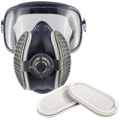 Veido kaukė (3/4) su FFP3 filtrais GVS Elipse Integra, dydis M/L