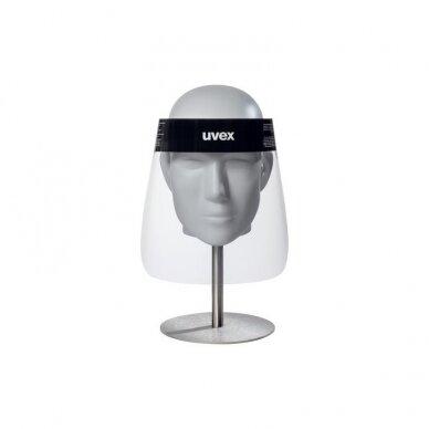 Veido skydelis Uvex 9710, 0,3mm PET, nerasojantis, elastinė guma 54-64cm