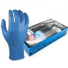 Vienkartinės nitrilinės pirštinės M-Safe Grippaz 246BL, 50 vnt dėžėje, 0,15mm storis, mėlynos, 10/XL