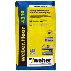 weber.floor 4310  Savaime išsilyginantis cementinis grindų mišinys 25 kg popierinis maišas