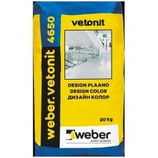 weber.vetonit 4650 Design Color Spalvotos cementinės liejamos grindys 20 kg plastikinis maišas