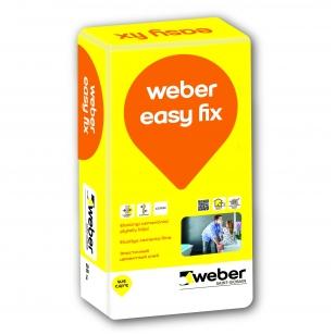 weber EASY FIX Aukštos kokybės elastingi plytelių klijai šildomosioms grindims  25 kg