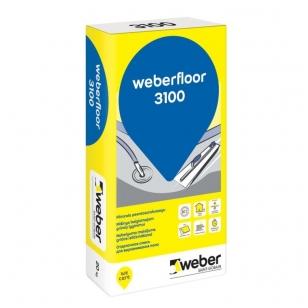 weber.floor 3100  plonasluoksnis išlyginamasis grindų mišinys 20 kg popierinis maišas