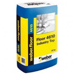 weber.floor 4610 Industry Top Pramoninis savaime išsilyginantis cementinis mišinys galutinei dangai 20 kg popierinis maišas