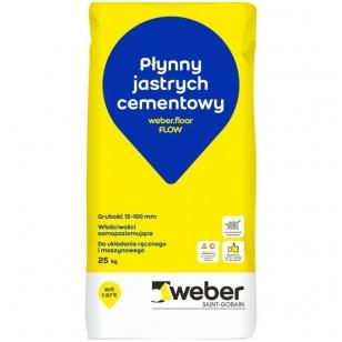 weber.floor FLOW  Cementinis išlyginamasis grindų mišinys, sustiprintas plaušu 25 kg popierinis maišas