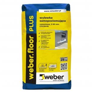 weber.floor PLUS 2000 Savaime išsilyginantis cementinis grindų mišinys 25 kg popierinis maišas