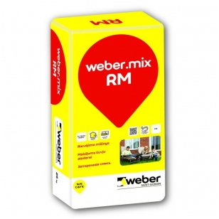 weber.mix RM 52LT Spalvotas rievėjimo mišinys 25 kg popierinis maišas