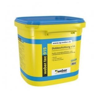 weber.tec 915 Vieno komponento bituminis hidroizoliacinis mišinys  30 litrų plastikinės talpyklos