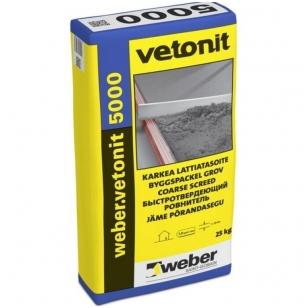 weber.vetonit 5000 Greitai stingstantis išlyginamasis grindų mišinys 20 kg popierinis maišas