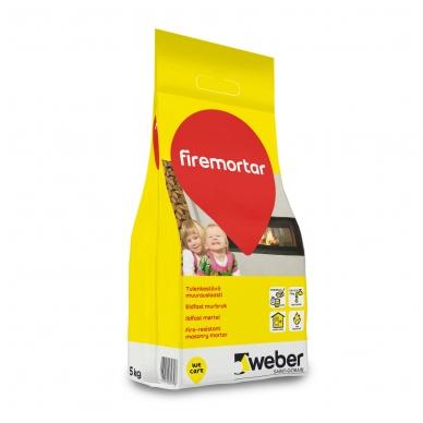 weber FireMortar Ugniai atsparus mūrijimo mišinys šamotinėms plytoms  5 kg plastikinis maišas