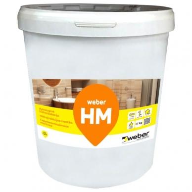 weber HM Polimerinė hidroizoliacija  5  kg plastikinis kibiras