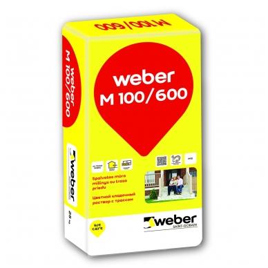 weber M100/600 52LT Spalvotas mūro mišinys  25 kg popierinis maišas